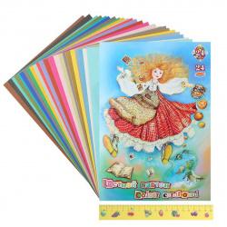 Набор цветного картона А4 24л 24цв немелованный в папке Страна чудес Кроличья нора ЦК-3510 (10)
