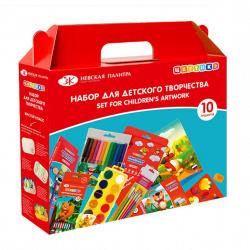 Набор для детского творчества Цветик с наполнением, 10 предметов Невская палитра 72411706