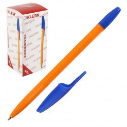 Ручка шар 1,0 желт корп 200741 KLERK син