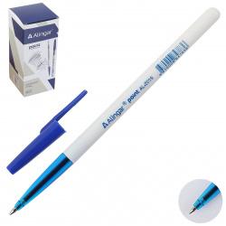Ручка шар 0,7 бел корп Alingar Point AL2019 син к/к