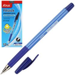 Ручка шар 1,0 трехгран син корп резин манжет Beifa КА124200CS-BL син к/к