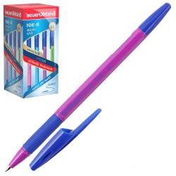 Ручка шар 0,7 цветн корп резин манжет R-301 NEON Stick&Grip EK 42751 син к/к ассорти
