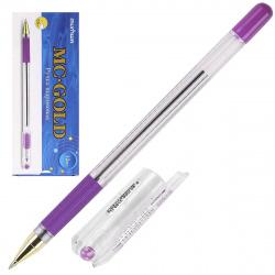 Ручка масляная, пишущий узел 0,5мм, цвет чернил фиолетовый MC Gold MunHwa BMC-09