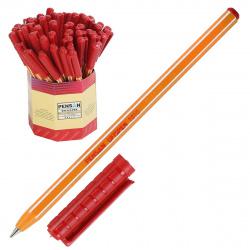 Ручка пишущий узел 1,0мм, цвет чернил красный Office Pensan 1010