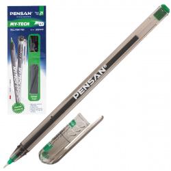 Ручка масляная, пишущий узел 0,7мм, игольчатая, цвет чернил зеленый MY-TECH Pensan 2240