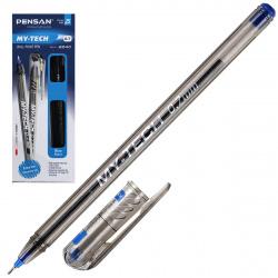 Ручка масляная, пишущий узел 0,7мм, игольчатая, цвет чернил синий MY-TECH Pensan 2240/480210