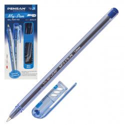 Ручка масляная, пишущий узел 1,0мм, цвет чернил синий My-Pen Pensan 2210-1/384840