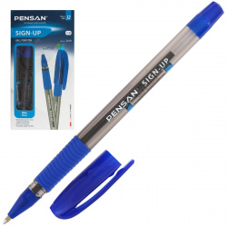 Ручка пишущий узел 1,0мм, цвет чернил синий SIGN-UP Pensan 2410