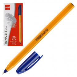Ручка шар 0,7 игольч трехгран желт корп Cello Trima-21B однораз 6326 син к/к