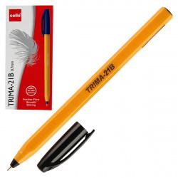 Ручка шар 0,7 игольч трехгран желт корп Cello Trima-21B однораз 6327 черн к/к