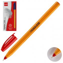 Ручка шар 0,7 игольч трехгран желт корп Cello Trima-21B однораз 6328 красн к/к