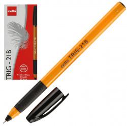 Ручка шар 0,7 игольч трехгран желт корп резин манжет Cello Tri-Grip yellow barrel однораз 749 черн к/к