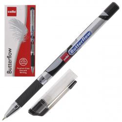 Ручка пишущий узел 0,7мм, игольчатая, цвет чернил черный Butterflow Cello 814139