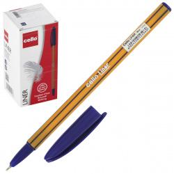 Ручка пишущий узел 0,7мм, игольчатая, цвет чернил синий liner Cello 1061176