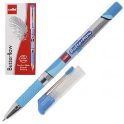 Ручка пишущий узел 0,7мм, игольчатая, цвет чернил синий Butterflow Cello 814141