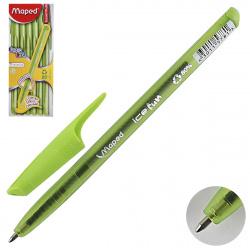Ручка шар 1,0 трехгран тонир корп Green Ice Fun Maped однораз 224553 зел к/к