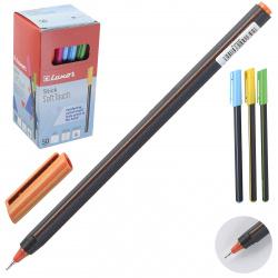 Ручка пишущий узел 0,7мм, игольчатая, цвет чернил синий, ассорти 5 видов Stick Soft Touch Luxor 19700/50BX