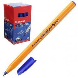 Ручка пишущий узел 0,7мм, игольчатая, цвет чернил синий InkGlide 100 Icy Luxor 16601/50 Bx