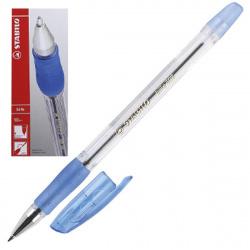 Ручка шар 0,7 прозр корп резин манжет Stabilo bille 508/41 син к/к