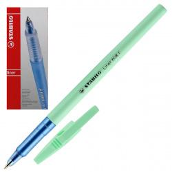 Ручка шар 0,5 мятный корп Stabilo liner 808FP1041-2 син к/к