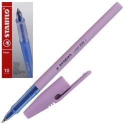 Ручка шар 0,5 лавандовый корп Stabilo liner 808FP1041-6 син к/к