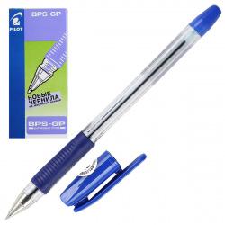 Ручка шар масл 0,5 прозр корп резин манжет Pilot BPS-GP-EF L син к/к