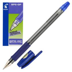 Ручка шар масл 1,0 прозр корп резин манжет Pilot BPS-GP-M L син к/к