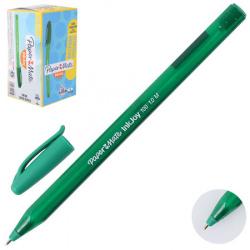 Ручка пишущий узел 1,0мм, игольчатая, цвет чернил зеленый InkJoy 100 Cap PaperMate S0957150
