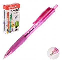Ручка пишущий узел 0,7мм, цвет чернил синий, ассорти 6 видов Micra X II Luxor 1840/12