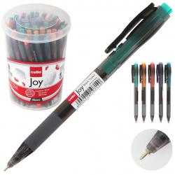 Ручка авт шар 0,7 игольч тонир корп резин манжет Cello Joy Tinted 399636 син пл/уп ассорти