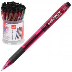Ручка авт шар 0,7 игольч тонир корп резин манжет Cello Neon Tinted 352/293062 син пл/уп ассорти 3 вида