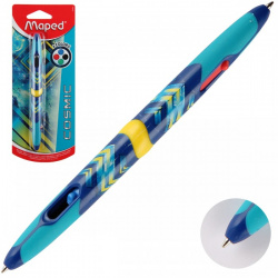 Ручка шар авт 4-х цв 1,0 цветн корп резин манжет COSMIC TEENS Maped однораз двустор 229443 син к/к