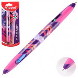 Ручка шар авт 4-х цв 1,0 цветн корп резин манжет COSMIC TEENS Maped однораз двустор 229444 син к/к