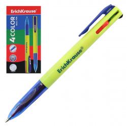 Ручка шар авт 4-х цв 0,7 зел корп 4COLOR ЕК 45204 к/к