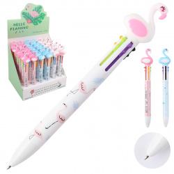Ручка шар авт дет 8-ми цв 0,7 цветн корп SHEN CHAO Фламинго 206119 КОКОС диспл ассорти 3 вида