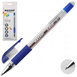 Ручка шар Пиши-стирай 0,7 прозр корп резин манжет EDIT M-7309-70 син к/к