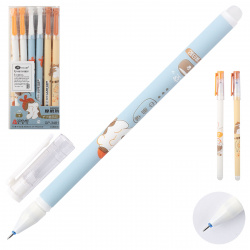 Ручка гелевая, Пиши-стирай, пишущий узел 0,38мм Коты Basir GP 3481