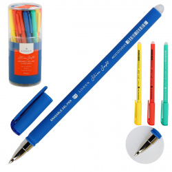 Ручка гел Пиши-стирай 0,5 цветн корп LX-base Bright Slim Soft LXEPSS-LB2 син пласт/уп ассорти 4 вида