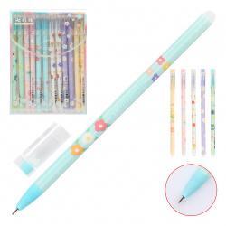 Ручка гелевая, Пиши-стирай, пишущий узел 0,5мм Elegant flovers Basir 1802