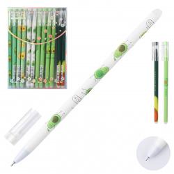 Ручка гелевая Пиши-стирай 0,5 игольч Basir Авокадо QX-1803 син пл/уп ассорти