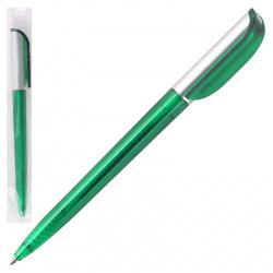Ручка авт шар inФОРМАТ Каролина логот тонир зелен корп BPP03-03-Gr* син