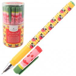 Ручка детская шариковая, масляная, 0,7мм CRAZY DOGS Double Soft LOREX LXOPDS-CD1
