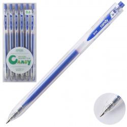Ручка гел авт 0,6 прозр корп Metallic 207559/3 КОКОС синий
