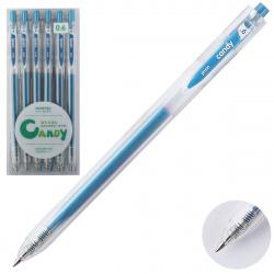 Ручка гел авт 0,6 прозр корп Metallic 207559/4 КОКОС голубой