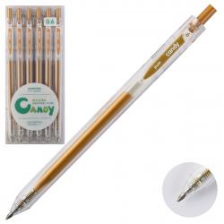 Ручка гел авт 0,6 прозр корп Metallic 207559/7 КОКОС коричневый