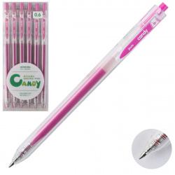 Ручка гел авт 0,6 прозр корп Metallic 207559/10 КОКОС розовый