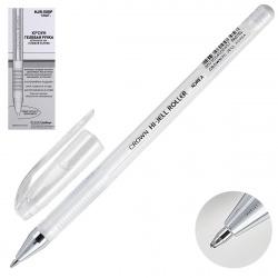 Ручка гелевая, пишущий узел 0,7мм, цвет чернил белый Crown HJR-500P