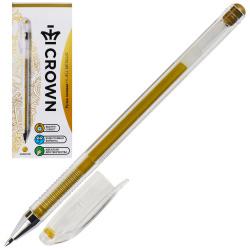 Ручка гелевая, пишущий узел 0,7мм, цвет чернил золотой Crown HJR-500GSM
