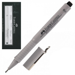Ручка капиллярная 0,8 Faber-Castel Еcco Pigment 166899 черный картонная коробка