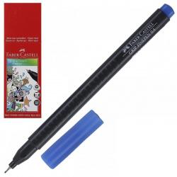 Ручка капиллярная 0,4 трехгранная Faber-Castell Grip 151651 синий картонная коробка